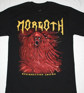 MORGOTH RESSURECTION ABSURD'89 NEW BLACK T-SHIRT