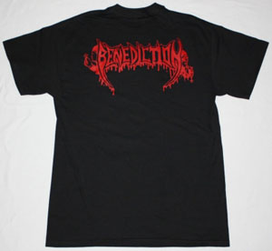 BENEDICTION TRANSCEND THE RUBICON'93 NEW BLACK T-SHIR