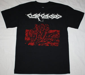 CARCASS FLESH RIPPING SONIC TORMENT '87  NEW BLACK T-SHIRT