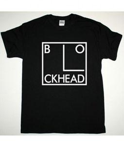 THE BLOCKHEADS LOGO NEW BLACK T SHIRT