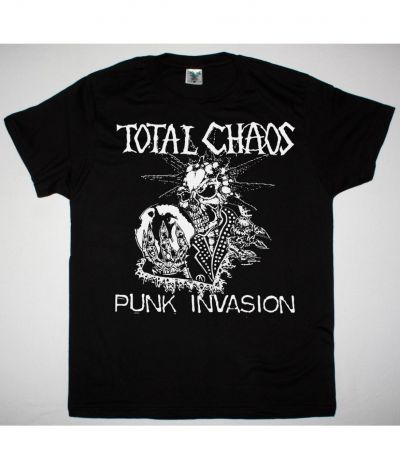 TOTAL CHAOS PUNK INVASION NEW BLACK T SHIRT