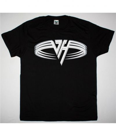 VAN HALEN SQUARE LOGO NEW BLACK T SHIRT