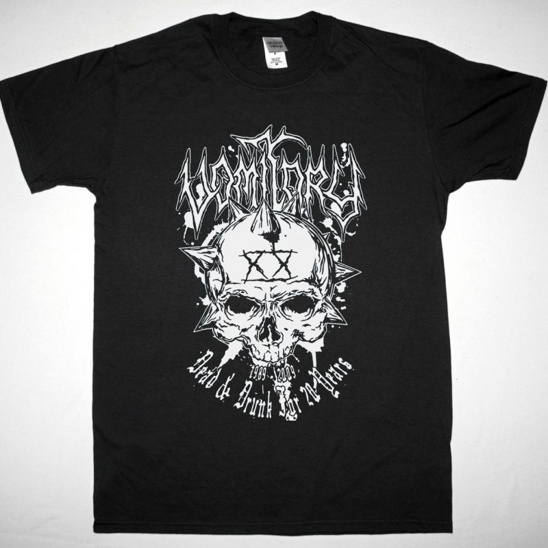 VOMITORY DEAD DRUNK NEW BLACK T SHIRT